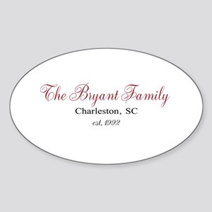 Personalizable Family Black Red Sticker