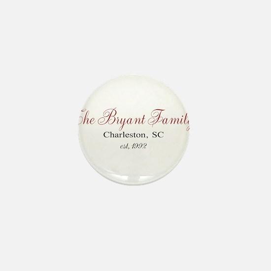 Personalizable Family Black Red Mini Button