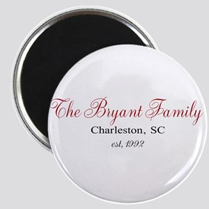 Personalizable Family Black Red Magnets