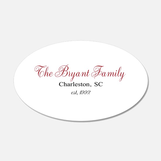 Personalizable Family Black Red Wall Decal
