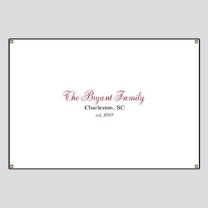 Personalizable Family Black Red Banner
