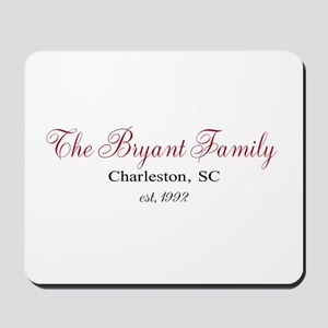 Personalizable Family Black Red Mousepad