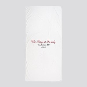 Personalizable Family Black Red Beach Towel