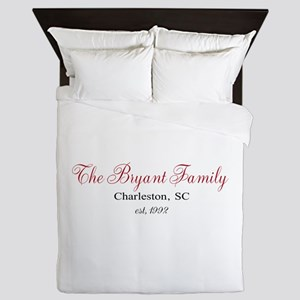 Personalizable Family Black Red Queen Duvet