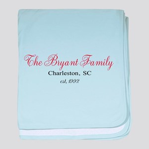 Personalizable Family Black Red baby blanket