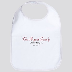 Personalizable Family Black Red Baby Bib