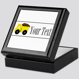Personalizable Dump Truck Keepsake Box