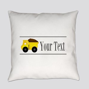Personalizable Dump Truck Everyday Pillow