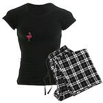 Pink Flamingo Personalizable Black Script Pajamas