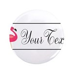 Pink Flamingo Personalizable Black Script 3.5
