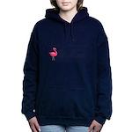 Pink Flamingo Personalizable Black Script Sweatshi