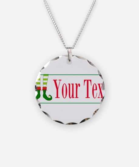 Personalizable Elf Feet Necklace