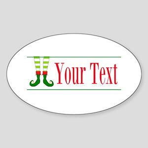 Personalizable Elf Feet Sticker