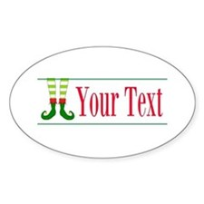 Personalizable Elf Feet Sticker