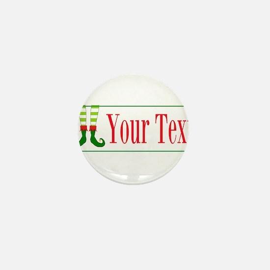 Personalizable Elf Feet Mini Button (100 pack)