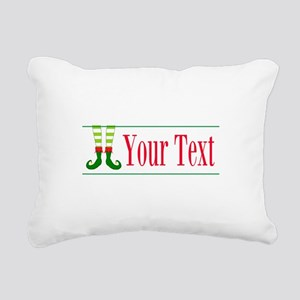 Personalizable Elf Feet Rectangular Canvas Pillow
