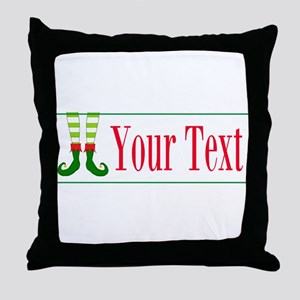 Personalizable Elf Feet Throw Pillow