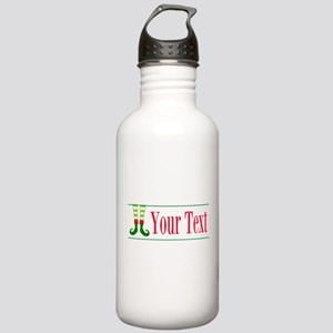 Personalizable Elf Feet Water Bottle