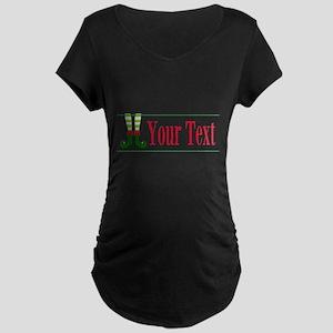 Personalizable Elf Feet Maternity T-Shirt