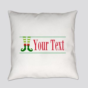 Personalizable Elf Feet Everyday Pillow