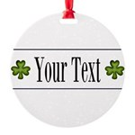 Personalizable Green Shamrock Ornament
