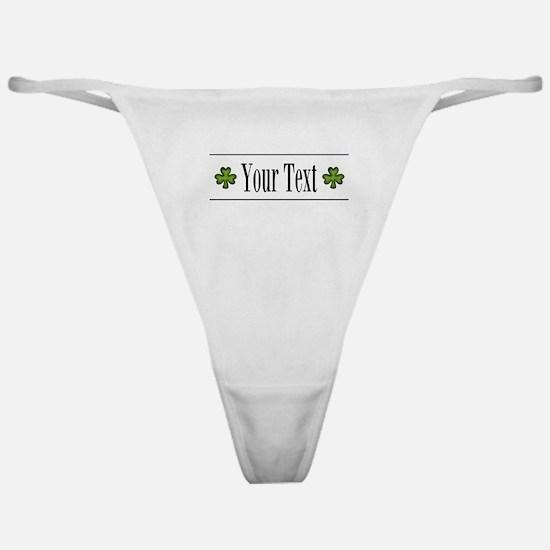 Personalizable Green Shamrock Classic Thong