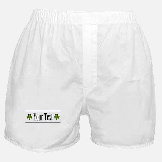 Personalizable Green Shamrock Boxer Shorts