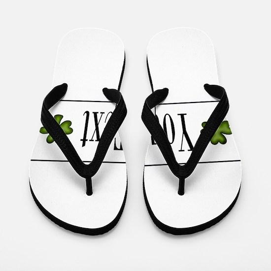 Personalizable Green Shamrock Flip Flops
