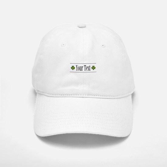 Personalizable Green Shamrock Baseball Baseball Baseball Cap