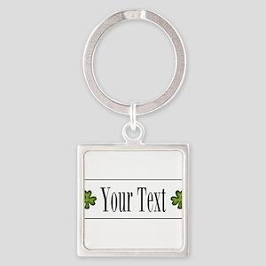 Personalizable Green Shamrock Keychains