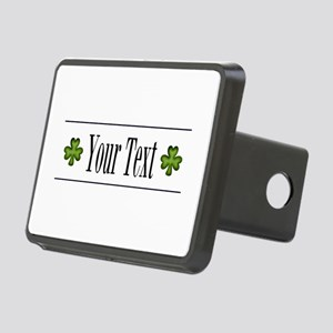 Personalizable Green Shamrock Hitch Cover