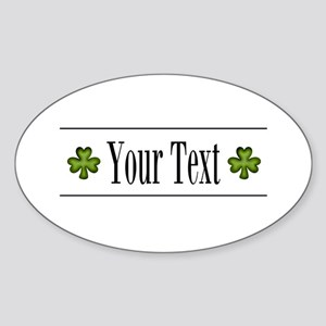 Personalizable Green Shamrock Sticker
