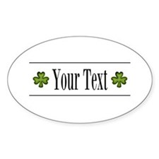 Personalizable Green Shamrock Sticker