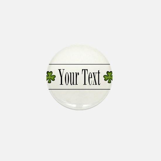 Personalizable Green Shamrock Mini Button