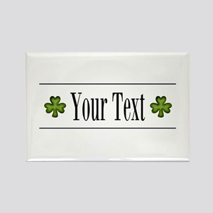 Personalizable Green Shamrock Magnets