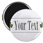Personalizable Green Shamrock Magnets