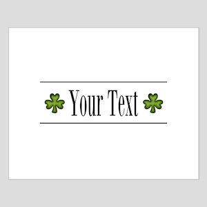 Personalizable Green Shamrock Posters
