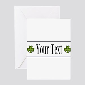 Personalizable Green Shamrock Greeting Cards