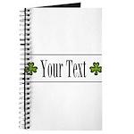 Personalizable Green Shamrock Journal