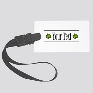 Personalizable Green Shamrock Luggage Tag