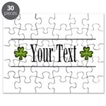 Personalizable Green Shamrock Puzzle