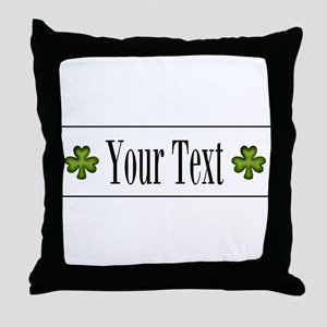 Personalizable Green Shamrock Throw Pillow