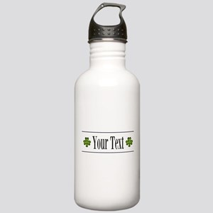 Personalizable Green Shamrock Water Bottle