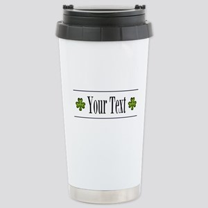 Personalizable Green Shamrock Travel Mug