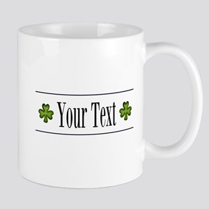 Personalizable Green Shamrock Mugs