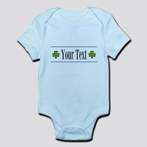 Personalizable Green Shamrock Body Suit
