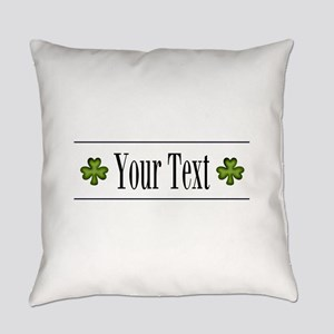 Personalizable Green Shamrock Everyday Pillow