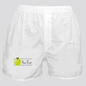 Personalizable Green Apple Boxer Shorts