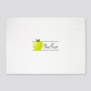 Personalizable Green Apple 5'x7'Area Rug