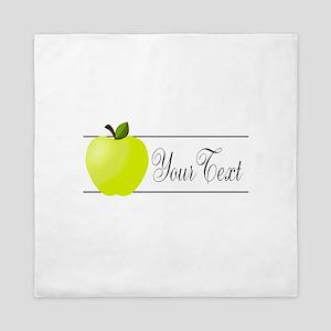 Personalizable Green Apple Queen Duvet